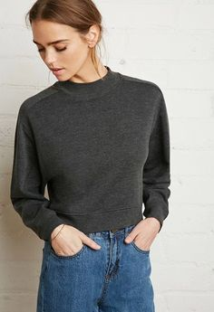 Forever 21 is the authority on fashion & the go-to retailer for the latest trends, styles & the hottest deals. Shop dresses, tops, tees, leggings & more! Sweaters For Women, T Shirts For Women, Clothes For Women, Target Clothes, Tunic Tank Tops, Cheap Fashion, Mock Neck, Long Sleeve Tops, Girl Outfits