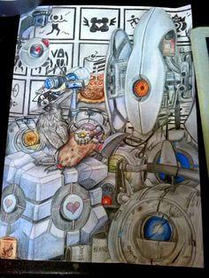 Portal pencil art