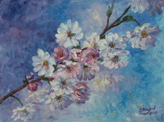 Flowers oil painting Floral wall art Pastel home decor Fine
