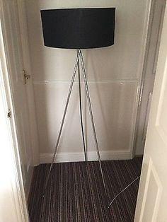 Tripod lamp with black shade | eBay