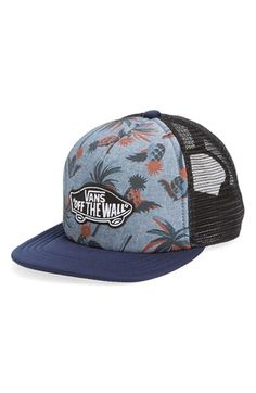 Vans 'Classic Patch' Snapback Trucker Hat (Big Boys)