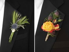 Boutonnieres are an important part of any guy's wedding ensemble. Below are some of my favorite fall inspired boutonnieres. Image Credits: The Bride and Bloom, 8 Brides, 9 The Knot and 10 Brides Making A Bouquet, Whats New, Culture, Wedding, Valentines Day Weddings, Weddings, Marriage, Chartreuse Wedding