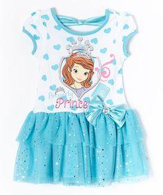 Look at this #zulilyfind! Blue Sofia 'Princess' Dress - Toddler by Children's Apparel Network #zulilyfinds