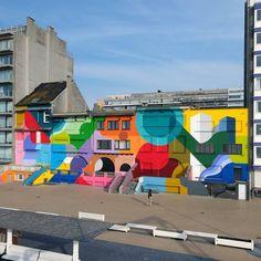 57 best urban art images in 2019 street art, urban art, city artstreet art official on instagram \u201c@oli_b art wall in nieuwpoort, belgium
