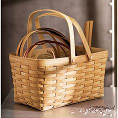 The original Longaberger Basket and still one of the most useful.  I admit I have at least four in everyday use that store magazines, videos, go to the store....  This basket is awesome!