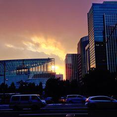 #sunset #building #road #tokyo