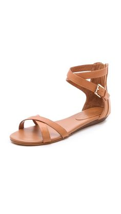 Of course I'm going to pin #ochre #summer #sandals in the middle of Snowpocalypse 2013. (I do need something dressier than my Keens, sometimes.)