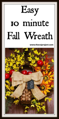 Easy 10 Minute Fall Wreath
