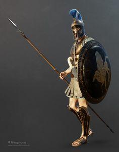 Fantasy Armor, Fantasy Weapons, Medieval Fantasy, Character Creator, Fantasy Character Design, Main Character, Greek Soldier, Anatomy Sculpture, Greek Warrior