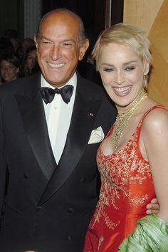 Oscar de la Renta and Sharon Stone, 2004