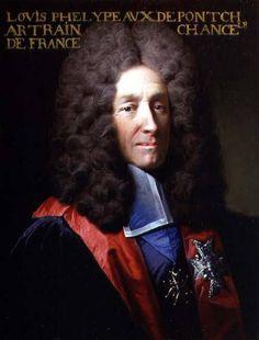 Messire Louis II Phélypeaux, 1er. Comte de Pontchartrain et de Maurepas, 1er. Marquis de Phélypeaux dit De Pontchartrain (1643-1727), Chancelier et Garde des Sceaux de France, Secrétaire d'État à la Marine et à la Maison du Roi, Ministre d'État.