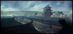 Japanese castle n2 by Yellomice.deviantart.com on @DeviantArt