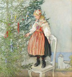 "Carl Larsson (Swedish, 1853-1919), ""Decorating the tree"" | Flickr - Photo Sharing!"