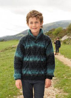 Mag. 180 - n° 17 Pull à chevrons col châle  Modèles, broderie & tricot  Achat en ligne