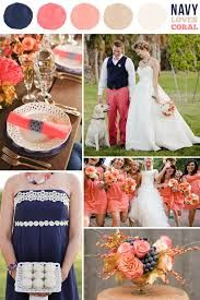 midnight blue and coral colour combinations - Google Search