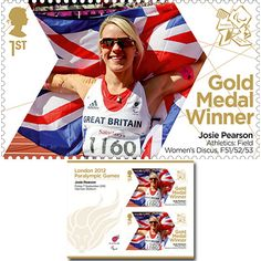 Large image of the ParalympicsGB Gold Medal Winner Miniature Sheet - Josie Pearson