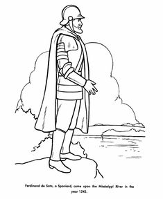 coloring pages of a conquistador - photo#11