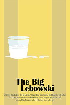 The Big Lebowski (1998) ~ Minimal Movie Poster by Alex Eylar #amusementphile
