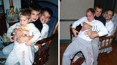 Photos d'enfance recréés à l'âge adultes. Idée: faire un calendrier