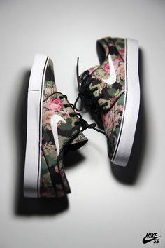 Floral Nike SB's