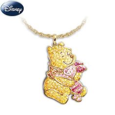 This is a very cute necklace with Winnie the Pooh hugging Piglet on a necklace. It is made of sterling silver, it was created by the Bradford Exchange, it would be a great addition to anyone's collection of Winnie the Pooh jewelry. Disney Necklace, Disney Jewelry, Cute Necklace, Pendant Necklace, Winne The Pooh, Disney Winnie The Pooh, Cute Disney, Disney Style, Walt Disney