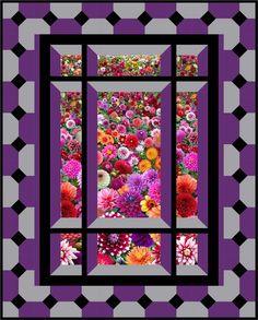 ATTIC WINDOW.........PC..................Modern Window Quilt Pattern BS2-421 (advanced beginner, wall hanging)
