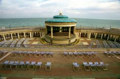 The Eastbourne Bandstand. This iconic building was built in 1935.