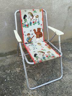 Ancienne Chaise Pliante Pour Enfant Vintage Lafuma French Antique Chair | eBay