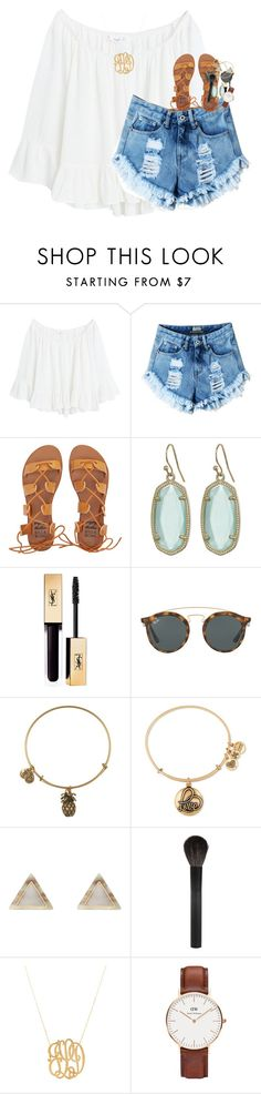 """not gonna take a break"" by classynsouthern ❤ liked on Polyvore featuring MANGO, Billabong, Kendra Scott, Ray-Ban, Alex and Ani, New Look, Giorgio Armani, Jennifer Zeuner and Daniel Wellington"