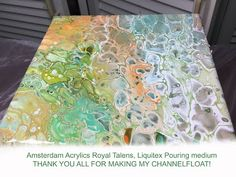 ( 060 ) Acrylic pouring a record / fruit bowl - YouTube