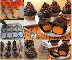 6 DIY Halloween Cupcake Ideas and Recipe