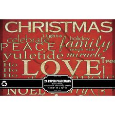 Christmas Paper Placemats. Fun placemats for kids to inspire conversation about different Christmas Traditions.  #Christmas #Paperplacemats