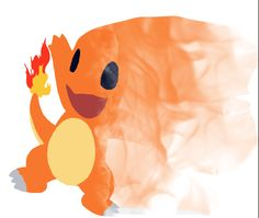 another Charmander splatter art but this time with flames