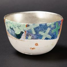 Bennett Bean - Vessel Ceramic Earthenware 3 7/8 x 2 3/8 in Pit fired, painted and gilded earthenware.
