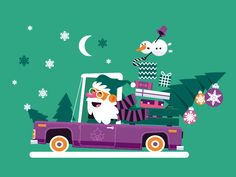 Santa Animation by Arty Motion on Dribbble Christmas Present Vector, Merry Christmas Gif, Christmas Scenes, Christmas Greetings, Kids Christmas, Mery Crismas, Vector Animation, Gif Collection, Color Vector