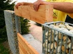 Image result for gabion wall ideas
