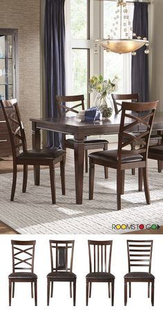 The timeless style of the Riverdale collection will make any meal memorable.