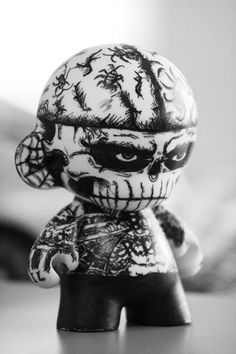 Zombie Munny  Tribute to Rick Genest. I don't have any tattoos, but this doll cracks me up!!