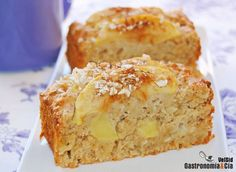 Bizcocho de manzana, avena y miel Apple Recipes, Sweet Recipes, Cake Recipes, Dessert Recipes, Food Cakes, Cupcake Cakes, Tortas Light, Cooking Time, Cooking Recipes