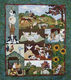 Back on the Farm is a multi block quilt created by McKenna Ryan of Pine Needles Designs.