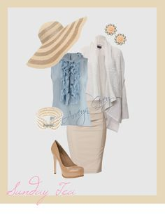 """Springtime Sunday Tea"" by arreyn-grey on Polyvore"