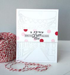 I Just Love You Card by Danielle Flanders for Papertrey Ink (January 2015)