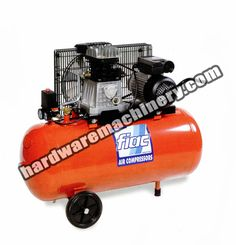 Fiac Air Compressor AB 50-248M. Belt-driven, 2HP / 50litre tank