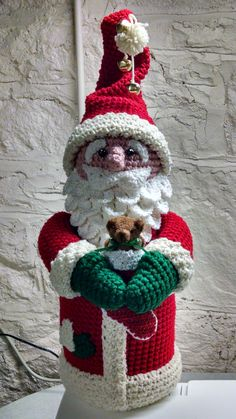 Items similar to Country Santa Claus Decoration, Collectible Crochet Santa, Handmade on Etsy - crochet crafts Crochet Santa, Christmas Crochet Patterns, Holiday Crochet, Christmas Knitting, Crochet Patterns Amigurumi, Christmas Baby, Christmas Crafts, Christmas Ornaments, New Year's Crafts