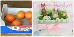 Orange Crate Turned Easter Basket | Redhead Can Decorate