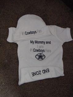 Dallas Cowboys Football Baby Infant Newborn Boys Girls Creeper Hat Set  4dc4d9b09