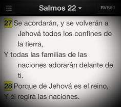 Aunque el trabajo de predicar parezca no prosperar, al final llevará fruto. #Promesa Salmo 22:27-28