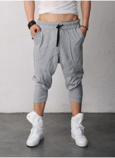 Mens Roxy Drop Crotch Cropped Jersey Pants at Fabrixquare