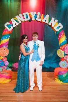 EHS Prom 2013 - CANDYLAND Arch wrapped in dollar store plastic tablecloths, cut them in half or thirds lengths...??