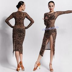 Women's Latin Dance Dress Rumba Samba Ballroom. Style: Latin,Cha Cha,Rumba. Color: Leopard. Dress Size: S M L. We Strive to do our best! Your positive comments are of vital importance to us!   eBay!